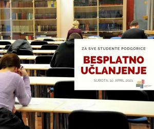 BESPLATNO UČLANJENJE ZA SVE STUDENTE