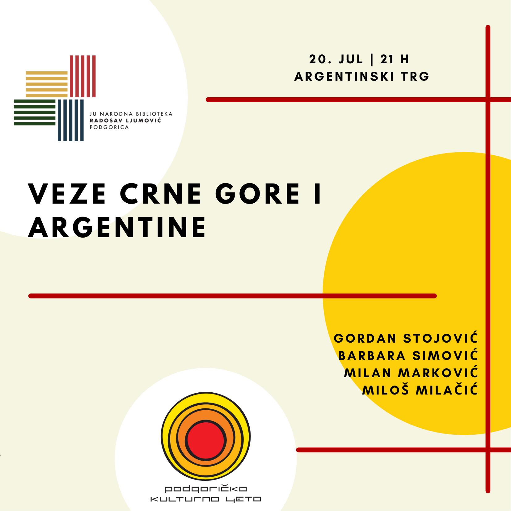 VEZE CRNE GORE I ARGENTINE